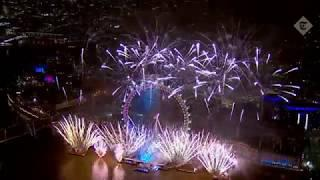 London welcomes 2019 with spectacular fireworks display