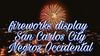 Fireworks display last night at the center mall    Angela Roble