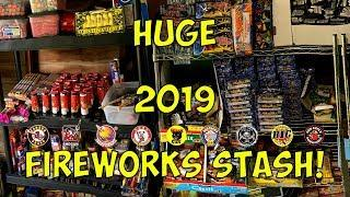 HUGE 2019 Fireworks Stash Update - Salutes - M-80's - Rockets Pt. 1