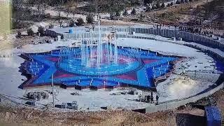 В парке Победы прошёл пробный запуск фонтана
