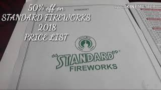 STANDARD FIREWORKS 2018 PRICE LIST. All  278 products exact price.