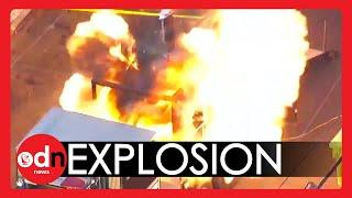 Illegal Fireworks EXPLOSION Caught on Camera in Los Angeles