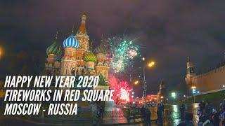Happy New Year 2020 - Fireworks in Red Square Moscow - Russia | Niki Walk