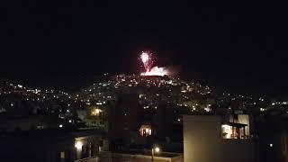 9 min non stop fireworks during Greek Easter 2019