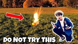 Blowing Up Pumpkins WITH FIREWORKS!! *GONE VERY WRONG*