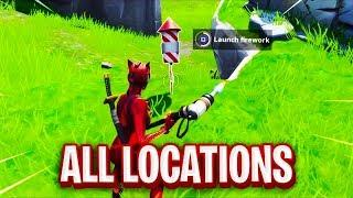 Launch Fireworks FORTNITE MAP LOCATIONS | Fortnite season 7 week 4 challenges