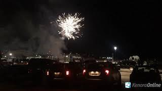Frozen Fiesta fireworks