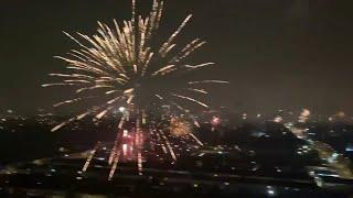 'I can't believe it!': Londoners go wild with New Year fireworks to celebrate 2021