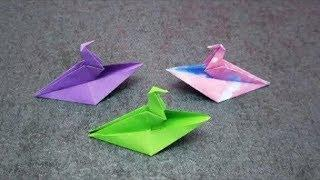Бумажный кораблик в форме птицы | Оригами птица Лодка | Поделки из бумаги поделки | Легкий шаг за ша