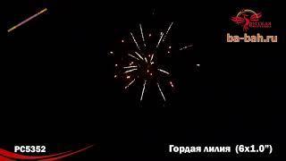 "Римские свечи РС5352 Гордая лилия (1"" х 6)"