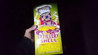 Five Artillery shells NO BRAND Fireworks