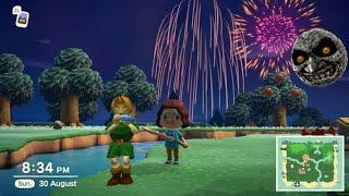 6 Year Old's Reactions To The FIREWORKS SHOW In Animal Crossing New Horizons!| Milly Billy Presents