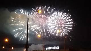 Праздничный салют в Новокузнецке. 300 лет Кузбассу.