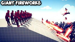 GIANT FIREWORKS ARCHER Vs EVERY UNITS - TABS - Totally Accurate Battle Simulator