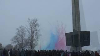 Дневной фейерверк. Цветные дымы.