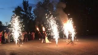 Свадебное пиротехническое шоу у ресторана Россия 8 июля 2019 года