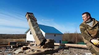 Разборка деревянного дома.