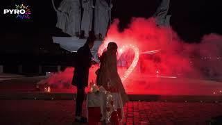 Наземный фейерверк, Пиро-символы, Фонтаны, Парковый фейерверк, Романтическое свидание, 4144