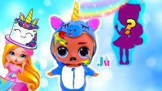 Почему плачет Скриббл Единорог? Праздник для куклы Лол Сюрприз / Видео  для детей