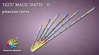 T6237 MAGIC SHOTS - 15 залпов римская свеча