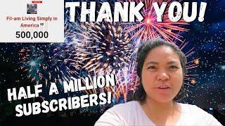 BUHAY AMERIKA: NAGPA FIREWORKS SI MAYORA! THANK YOU 500K SUBSCRIBERS!