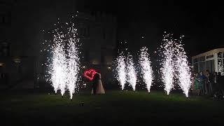 Сценические фонтаны + горящие сердца
