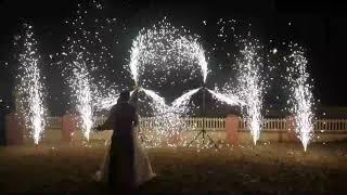 Финал Свадьбы в Аскарово! Необычная пиротехника, холодные фонтаны и вертушки!