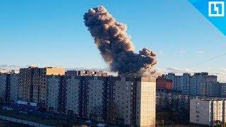 Взрыв на заводе пиротехники в Гатчине