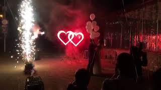 Праздничный фейерверк - пиротехнические фонтаны, вертушки, сердца - Ставрополь