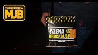 ZENA BROCADE BLUE CAKE - VUURWERK