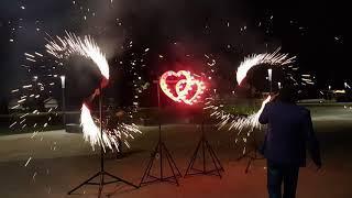 Салюты и фейерверки - огненные сердца, вертушки и салют.