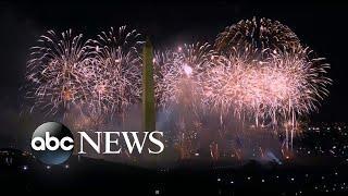 Huge fireworks conclude Biden's inauguration | WNT