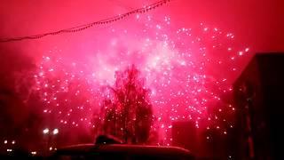 Новый год 2019 г.Дзержинский (салют и дискотека)