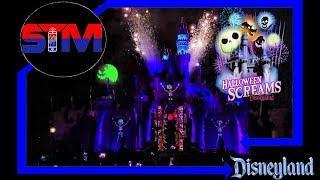 2019 Disneyland's Halloween Screams  Fireworks - Castle View - Disneyland Park