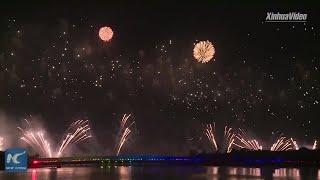 3 cities set off fireworks to celebrate PRC's 70th founding anniversary