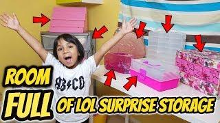 ROOM FULL of LOL Surprise Storage! All My Cases and Genius Ways to Store LOL Dolls!