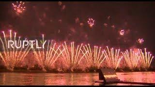 LIVE: Fifth International Rostec Fireworks Festival lights up Moscow sky MUTED
