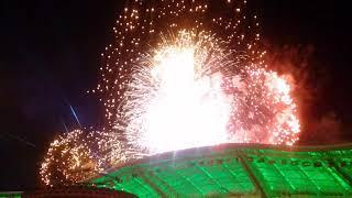 Красота Туркменистана. Ночные салюты над стадионом в Ашгабаде