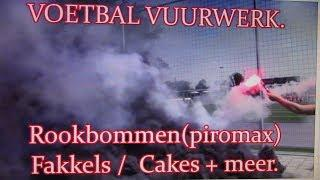 Vuurwerk bij de Voetbal........Smoke-bombs(piro-max)../Torches and more