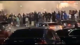 Huge crowds gather to do donuts, set of fireworks in Atlanta during pandemic