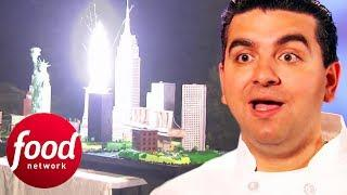 Buddy Makes A Cake With Working Fireworks On It! | Cake Boss