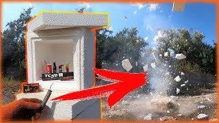 Эксперимент|Взорвал коробки из пенопласта|Тест петард