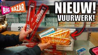 NIEUW VUURWERK BIJ DE BIG BAZAR! | VUURWERK SHOPPEN EN AFSTEKEN!