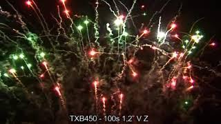 "Fajerwerki TXB450 V Z Bateria 100s 1 2"" Triplex"