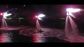 Ночное свето-пиротехническое шоу от FlyboardCrimea