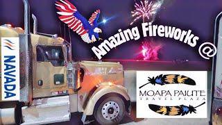 Tribal Navada,USA.Amazing Fireworks @ MOAPA PAIUTE Truck Stop.