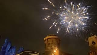 Fireworks in Galaxy's Edge on opening day at Disneyland