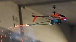 RC HELICOPTER vs TORPEDOES / Fireworks - Will it Survive? - Experiment with RC Toys