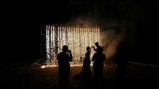 Бенгальские свечи, фонтаны, огнепад.