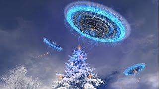 Встречаем 2014 год!,смотрим салюты и наблюдаем НЛО  в небе!!